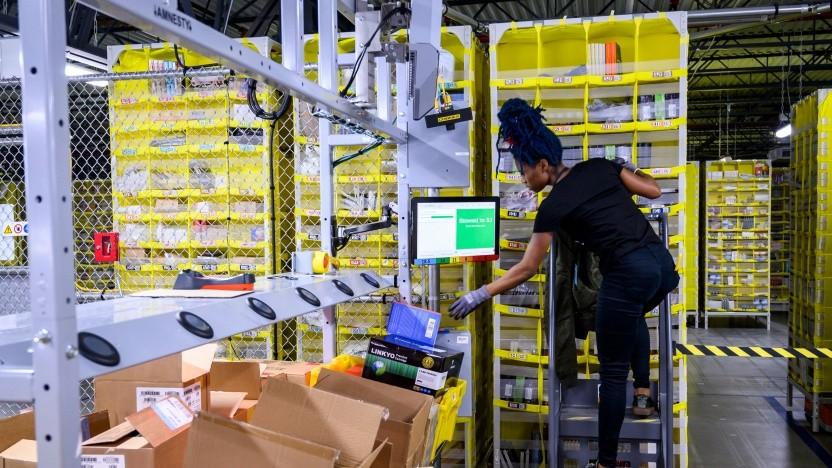 Ein Fulfillment-Center von Amazon in den USA