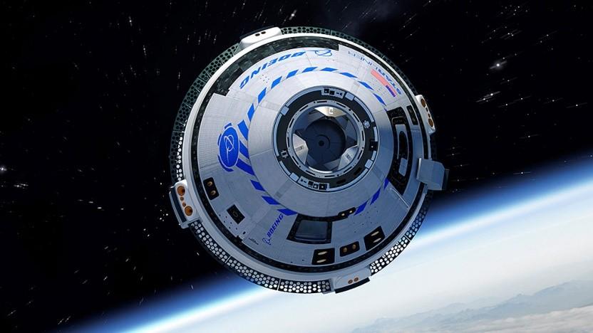 Das Starliner-Raumschiff, hier als Computergrafik, auf dem Weg zur ISS