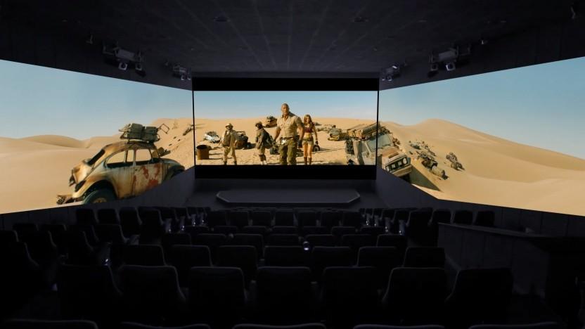 Werbebild für Jumanji mit ScreenX-Projektion.