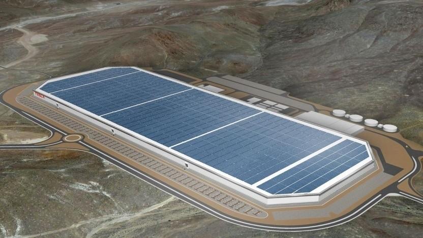 Teslas Gigafactory in Nevada (Symbolbild): bis zu 8.000 neue Arbeitsplätze in Brandenburg