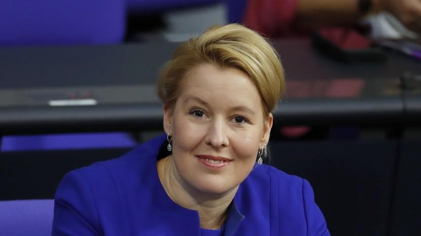 Franzska Giffey, die Bundesministerin für Familie, Senioren, Frauen und Jugend