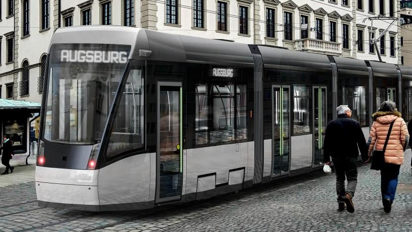 Straßenbahn in Augsburg/Symbolbild
