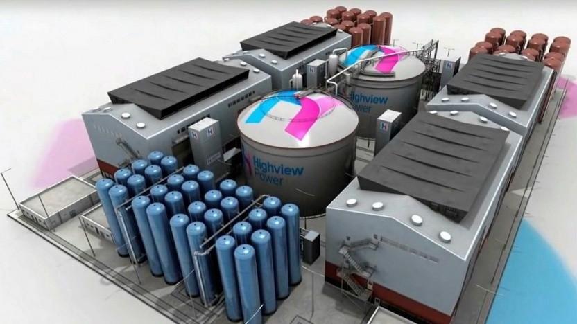 Modell eines Speicherkraftwerks mit flüssiger Luft