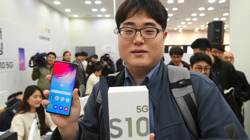 Einer der ersten 5G-Nutzer in Südkorea