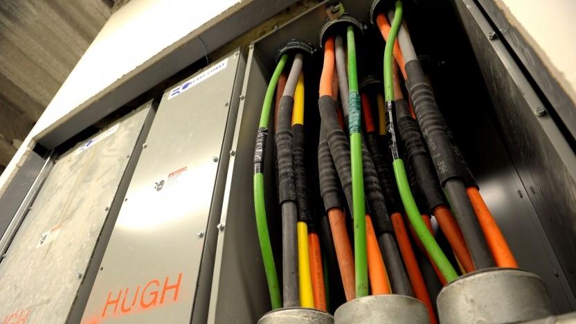 Festnetztechnik in einem gut versorgten Teil von New York City