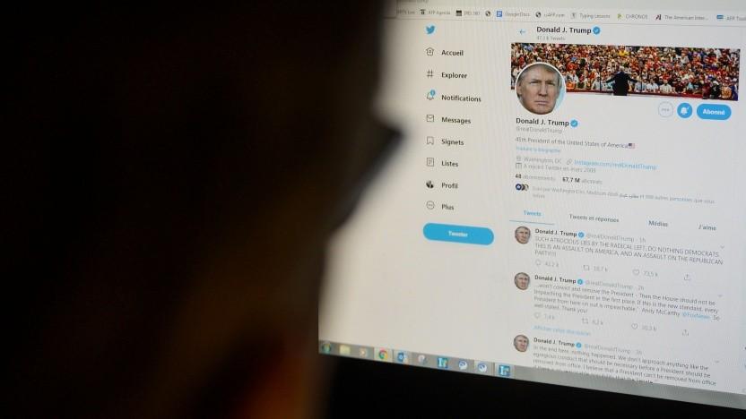 Nutzerkonto von US-Präsident Trump auf Twitter