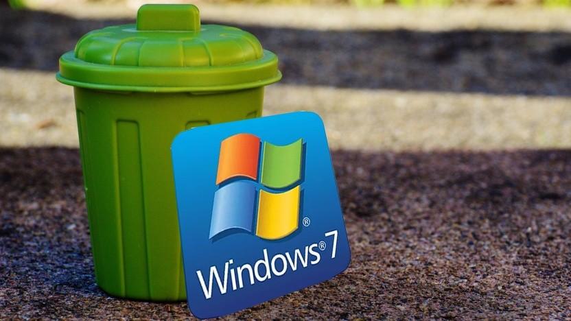 Windows 7 sollte mittlerweile deinstalliert werden.