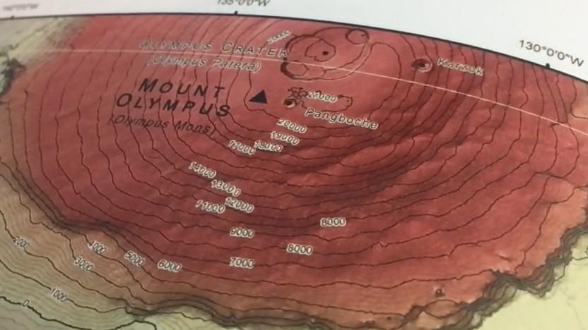 Der Mars-Atlas zeigt viele Karten des Mars.