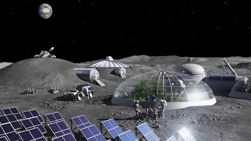 Raumfahrt: Esa-Forscher erzeugen Sauerstoff aus Mondstaub - Golem.de