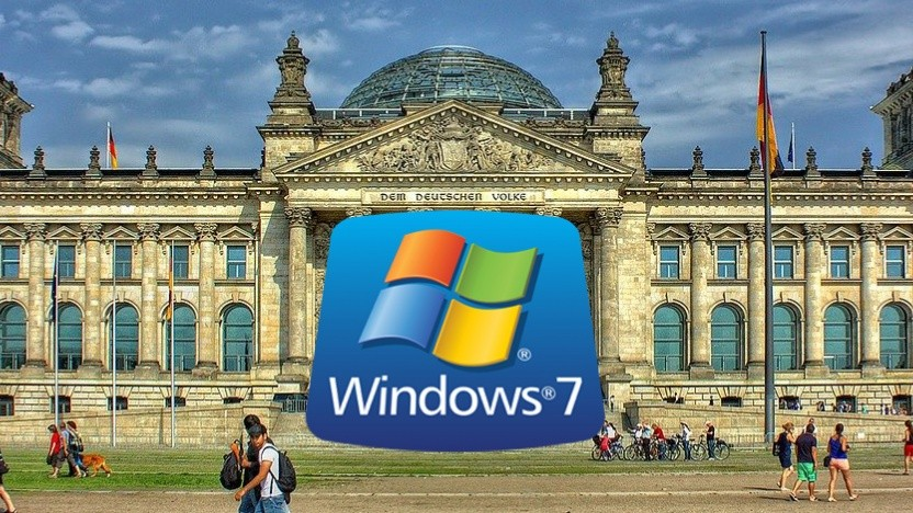 Windows 7 ist bei vielen Behörden in Deutschland noch im Einsatz.