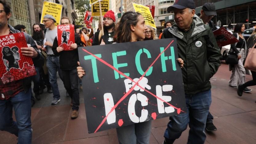 Die Zusammenarbeit mit der US-Einwanderungspolizei ICE sorgt derzeit für große Proteste innerhalb der Tech-Industrie.