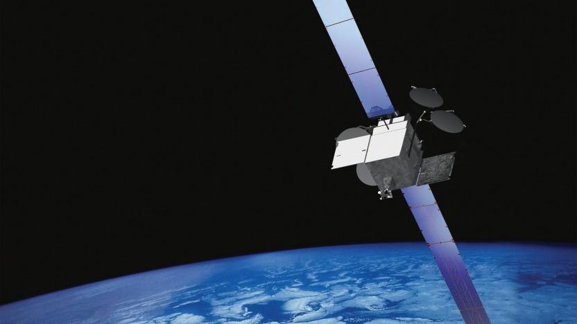 """Künstlerische Darstellung eines 702HP-Satelliten von Boeing: """"Risiko eines katastrophalen Batterieversagens"""""""