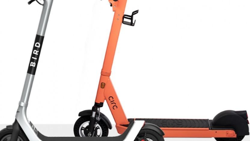 E-Scooter von Bird und Circ
