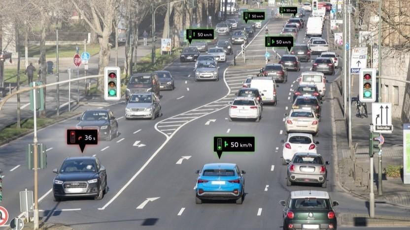 Ampelinformationssystem von Audi