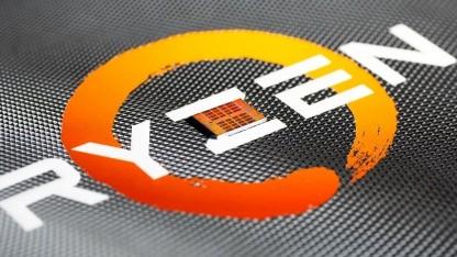Ein 7-nm-Chiplet auf einem Ryzen-Schriftzug