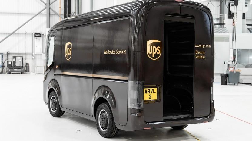 UPS-Lieferwagen von Arrival
