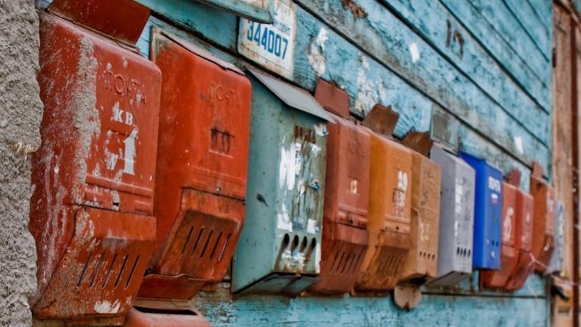 Briefkästen in der russischen Stadt Rostow