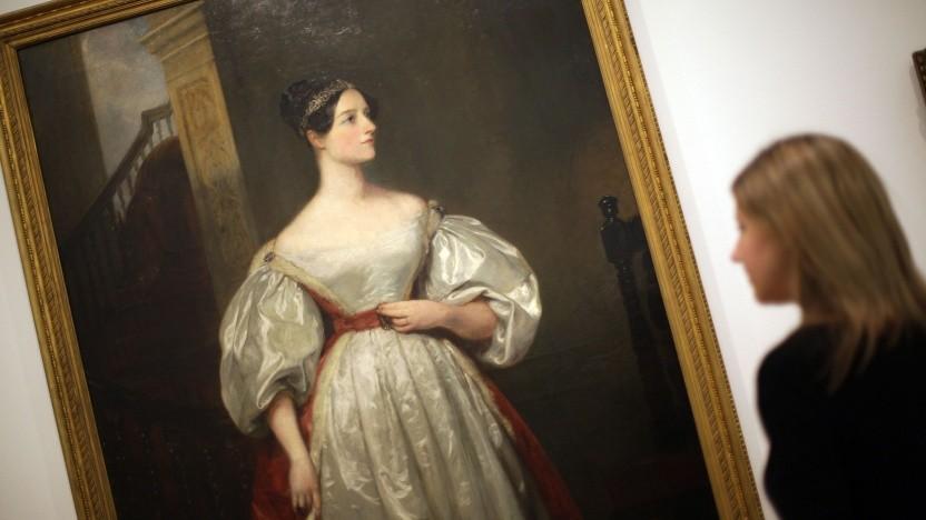 Ada Lovelace auf einem Gemälde von Margaret Carpenter in einer britischen Kunstgalerie
