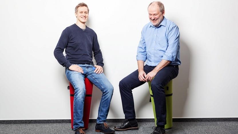 Sven Bernhardt (31) und Detleff Hillecke (63) bilden bei Consist Software Solutions ein gutes Team.