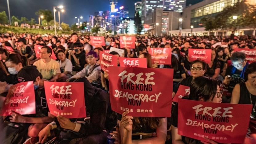 Protest für Demokratie in Hong Kong.