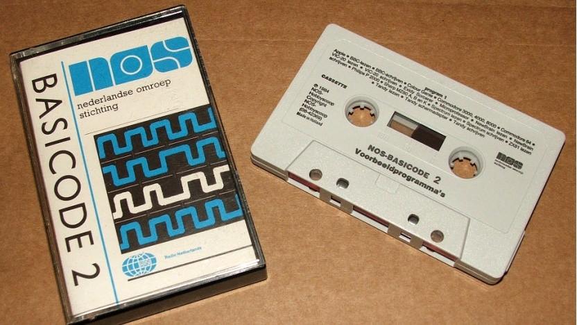 Eine Basicode-Kassette des niederländischen Rundfunks