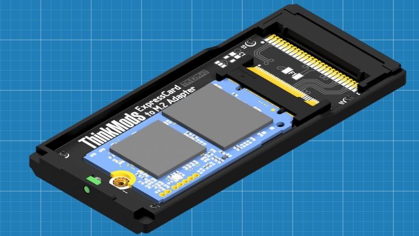 Der Smartcard-Adapter hat derzeit nur Platz für kürzere M.2-2242-SSDs.