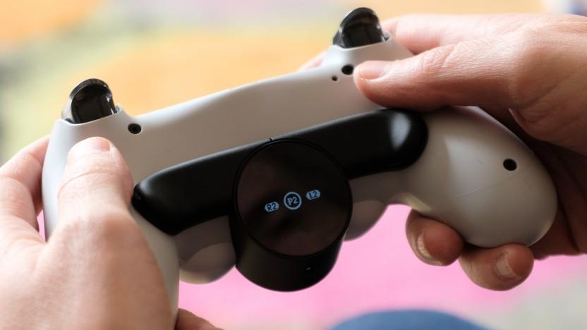 Display des Rücktasten-Ansatzstücks für die Playstation 4