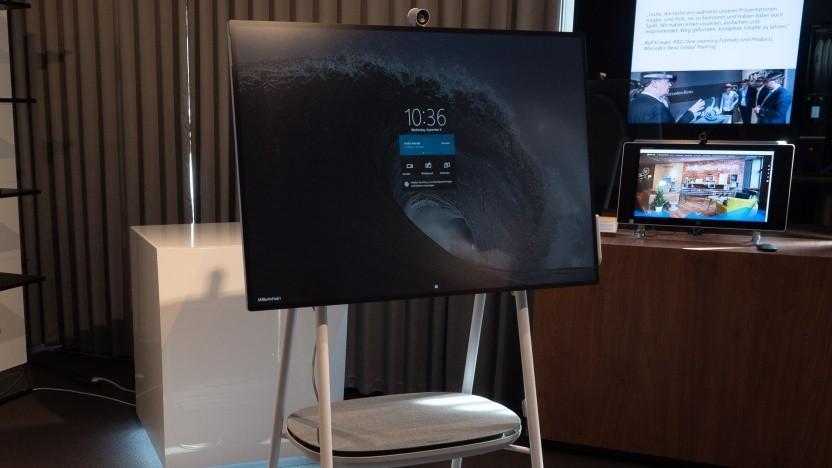 Das Surface Hub 2S ist der kleine Nachfolger von Microsofts Konferenzsystem.