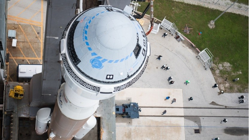 Das Starliner Raumschiff vor dem Start des problematischen Testfluges
