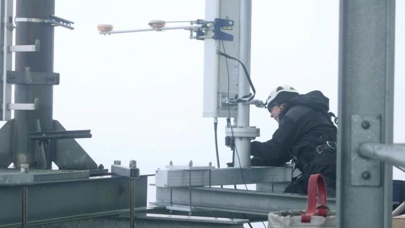Nokia-Ausrüstung bei der Deutschen Telekom im Hamburger Hafen
