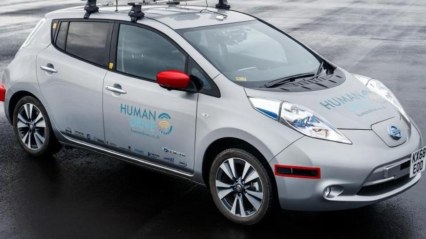 Autonom fahrender Nissan Leaf