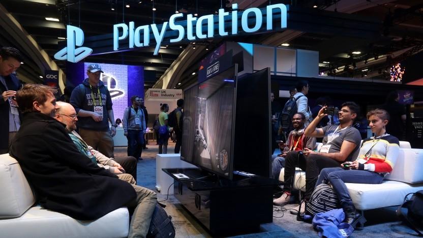 Playstation auf einer Messe
