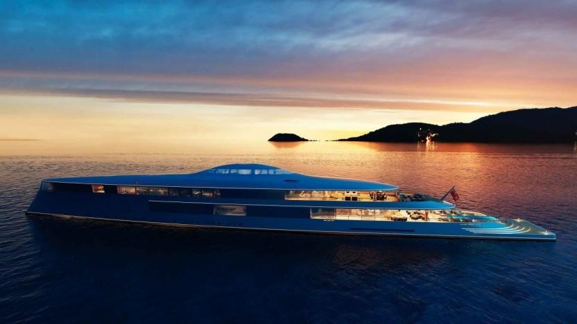 Superjacht mit Brennstoffzellenantrieb: Helideck und Infinity-Pool