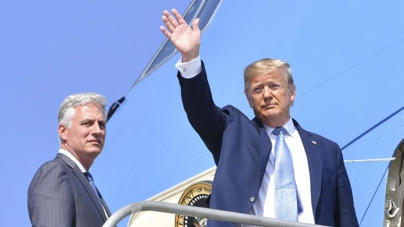 Der Sicherheitsberater Robert O'Brien (l.) mit dem US-Präsidenten