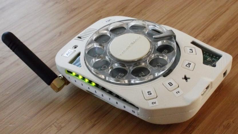 Das mobile Wählscheibentelefon von Justine Haupt