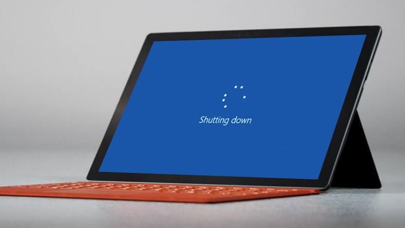 Das Surface Pro 7 fährt runter, auch wenn man es nicht will.