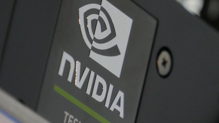 Nvidia-Logo auf einer Tesla T4, wie sie für Inferencing in Datacentern eingesetzt wird.