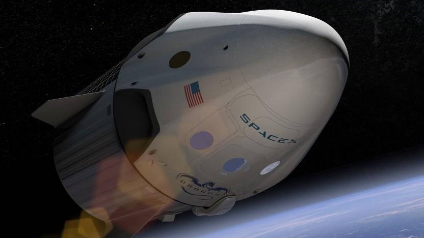 In so einem Dragon-Raumschiff könnten zahlungskräftige Weltraumtouristen demnächst über der Erde fliegen.