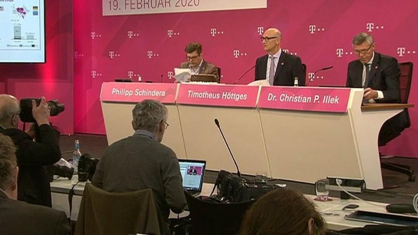 Die Quartalszahlen der Telekom werden vorgestellt.