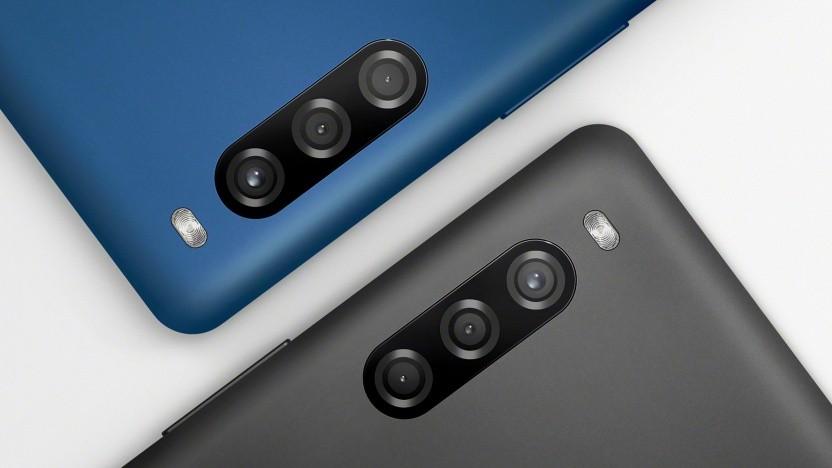 Das Xperia L4 von Sony hat eine Dreifachkamera.