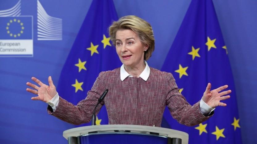 Kommissionspräsidentin von der Leyen setzt auf die breite Nutzung vieler Daten.