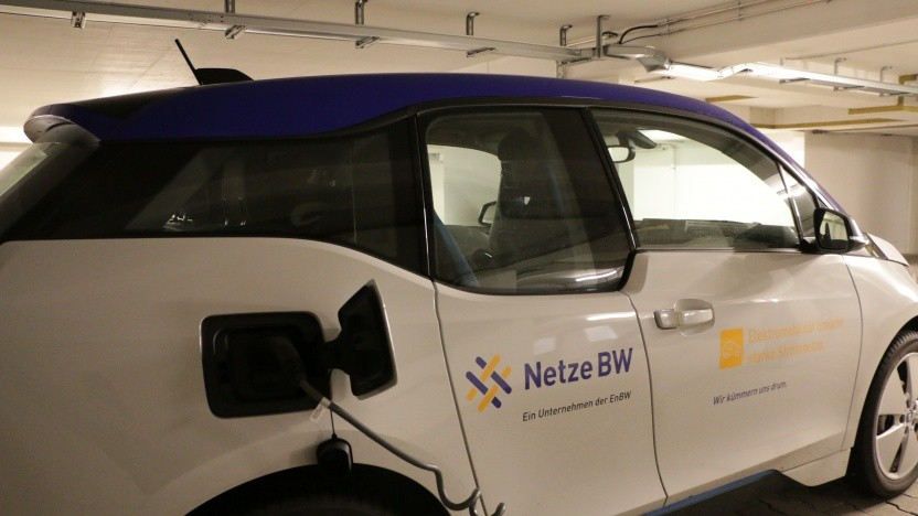 Der Netzbetreiber Netze BW hat eine Tiefgarage für Testzwecke voll elektrifiziert.