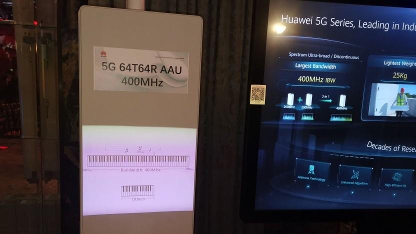 Eine der neuen 5G-Antennen von Huawei in London - sie ist noch ein Prototyp.