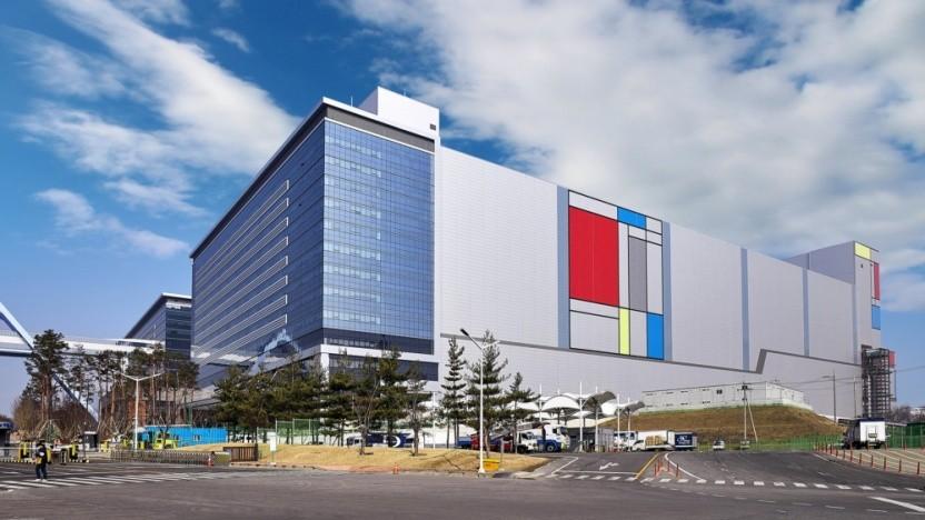 Gebäude der Line V1 im südkoreanischen Hwaseong