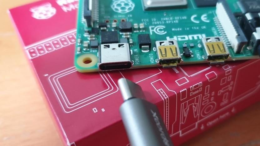 Der neue Raspberry Pi 4 verfügt über USB-C und auch zwei Mini-HDMI-Anschlüsse.