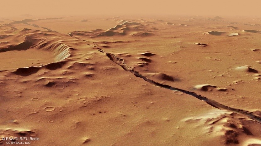 In der Nähe von Cerberus Fossae wurden auf dem Mars zwei Beben nachgewiesen.