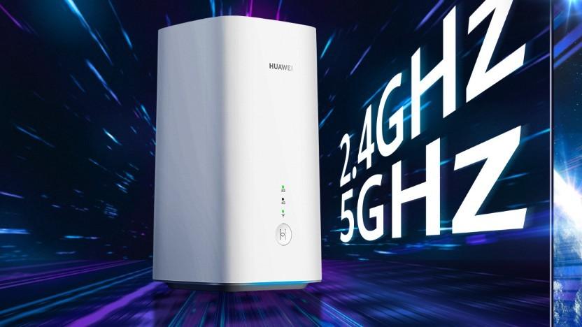 Der 5G CPE Pro 2 kann sich auch in das 5G-Netz einwählen.