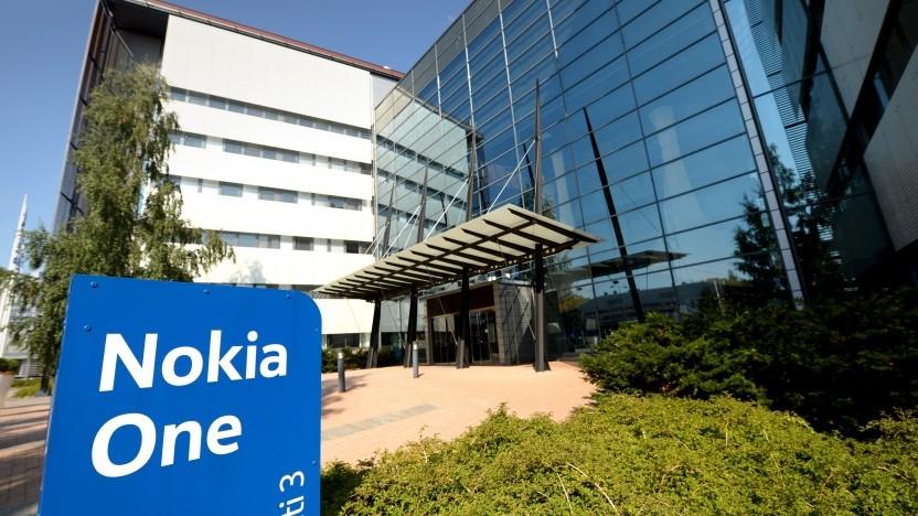Am Nokia-Hauptsitz in Finnland