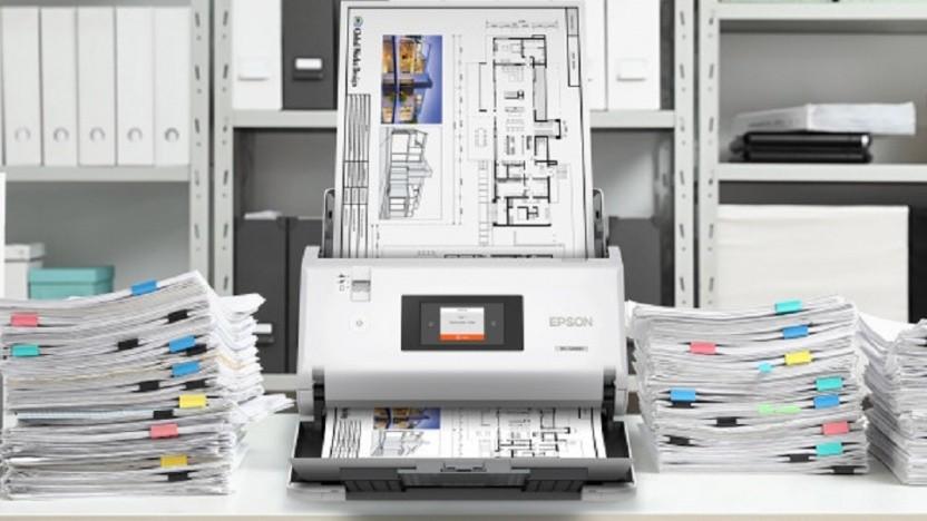 Der Workforce DS-30000 scannt ziemlich schnell.