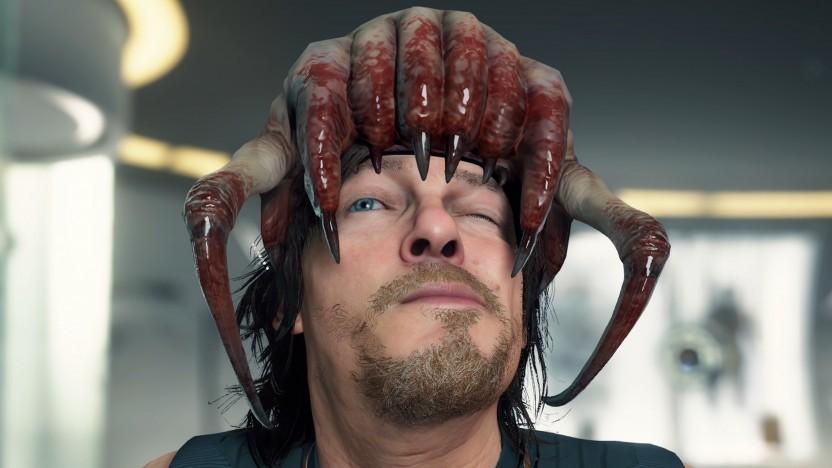 Sam Porter in Death Stranding mit Headcrab